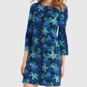 DRAPER JAMES Floral Long Sleeve Shift Dress